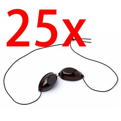 25 X Pairs of Elastic Tanning Goggles - Eye Protection iGoggles for Sunbed Use