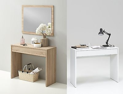 """Chequer"" Dressing Table, Hallway Console or Slim PC Table, With Drawer"