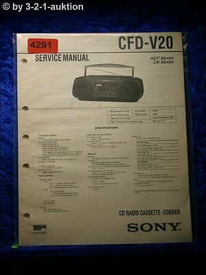 Sony Service Manual CFD V20 Cassette Corder (#4291)