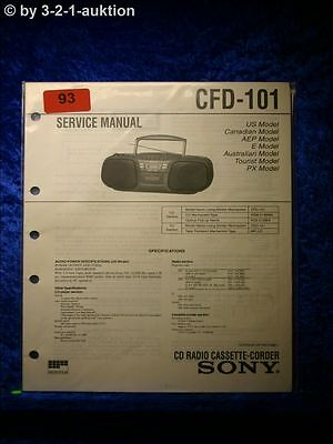 Sony Service Manual CFD 101 Cassette Recorder (#0093)
