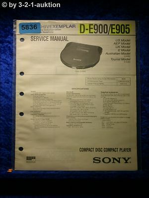 Sony Service Manual D E900 /E905 CD Player (#5836)