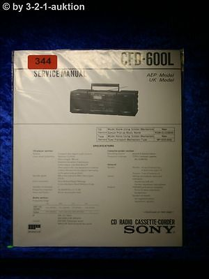 Sony Service Manual CFD 600L Cassette Corder (#0344)