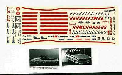 Larry Goldstein Dodge Ramchargers Decals NHRA Drag 1/24th -1/25th