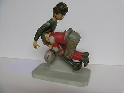 """Norman Rockwell """"Tackled""""  GORHAM RW-14 Figurine  With Box - Mint"""