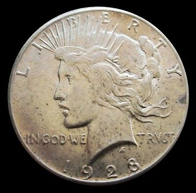 1928 Silver United States Peace $1 Dollar Coin Choice About Unc. Condition