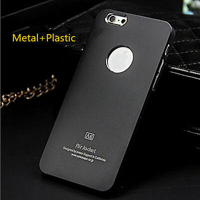 Black Ultra Thin Aluminum Metal Cover Back Hard Case For iPhone 5S 5 Black