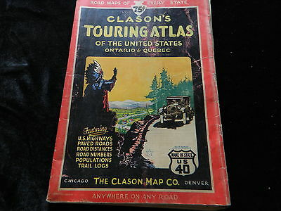 VINTAGE CLASONS TOURING ATLAS OF THE U.S. AND CANADA