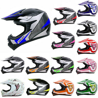 LEOPARD Junior Child Children Kids Motorcycle Motorbike Helmet Motocross MX ATV