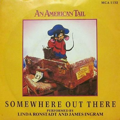 """Linda Ronstadt(7"""" Vinyl P/S)Somewhere Out There-MCA 1132-UK-Ex/VG"""