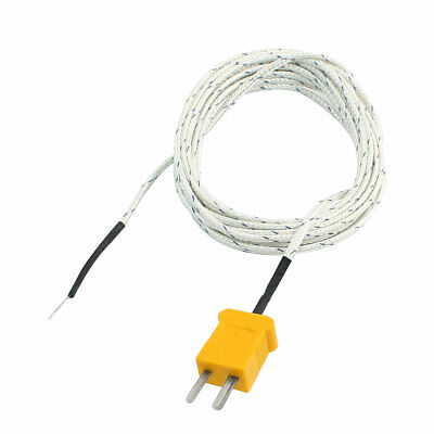 K Type -20C to 200C Wire Lead Measuring Thermocouple Sensor 9.8Ft 3Meter