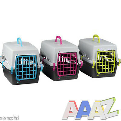 Pet Cat Kitten Dog Rabbit Carrier Kennel Foldable Travel Transport Cage Vet