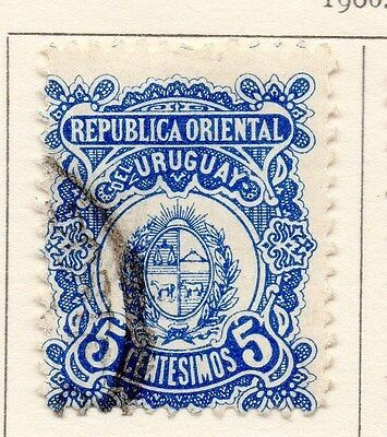 Uruguay 1906 Early Issue Fine Used 5c. 170309