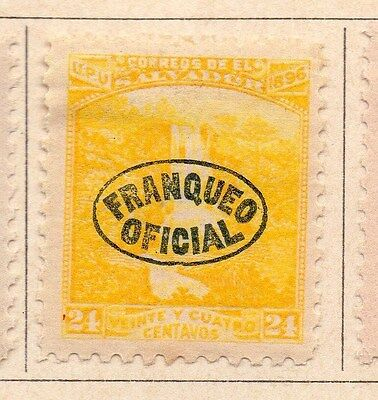 Salvador 1897 Early Officials Optd Issue Fine Mint Hinged 24c. 170443