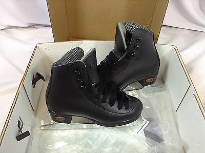 Riedell Model 17 Figure Skates Youth Boy's Size 10 Black New (FS80) IHH