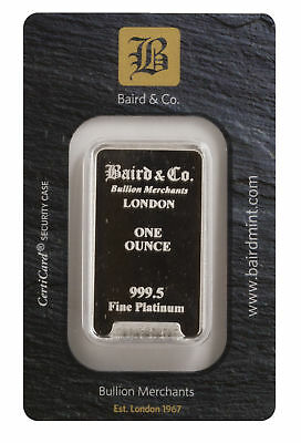 1oz  Baird Mint .9995 Platinum Bar