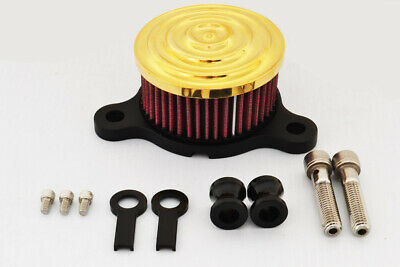 Gold Scalloped Air Cleaner Carb Cover Intake Fits Harley Sportster Carburetors