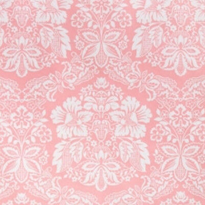 1970s French Damask Pink Paisley Floral Dreamland Vintage Original Wallpaper 60s