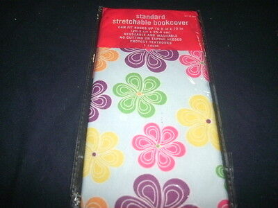 1 NEW Flowers Book Cover Stretchable Fabric Sox School Student sock