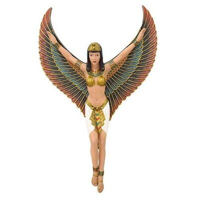 Mother Goddess Isis Open Wings Wall Plaque Ancient Egyptian Figurine Collection