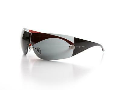 NEW Authentic VERSACE VE 2054 Sunglasses 1001/87 Black Red Grey VE2054 2O54