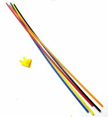 Plastic Antenna Pipe Tube Receiver Aerial w// cap x3 for 2.4ghz Receivers 119mm