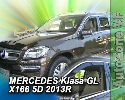 DME23285 MERCEDES GL CLASS X166 5DOOR 2013-up WIND DEFLECTORS 4pc HEKO TINTED