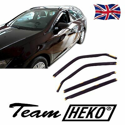 DSE28240 SEAT LEON ST 5 DOOR 2014-up WIND DEFLECTORS 4pc HEKO TINTED