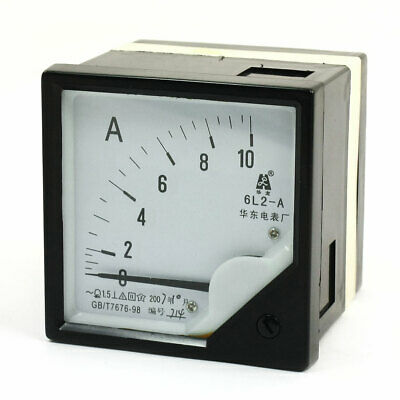 Black Plastic Shell 6L2 AC 0-10A Panel Ammeter Current Pointer