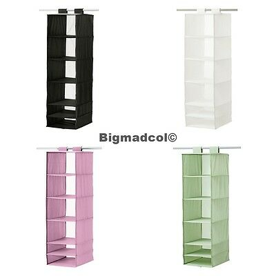 Ikea Skubb HANGING wardrobe storage organiser divider 6 compartments shoes NEW