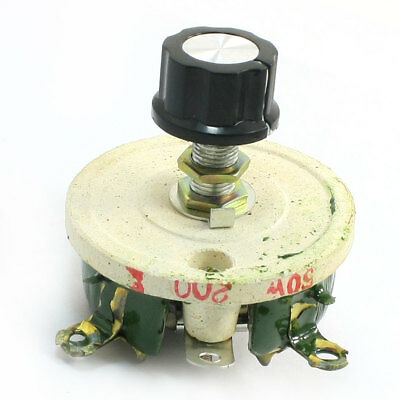 Wirewound Ceramic Potentiometer Variable Rheostat Resistor 50W 200 Ohm