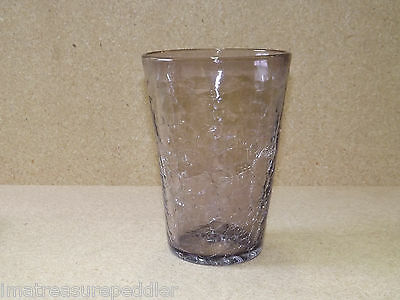 Vintage Light Amethyst Crackle Glass Vase