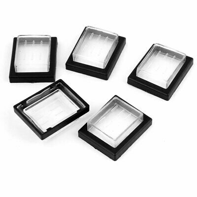 5 Pieces Black Clear Rectangle Plastic Waterproof Switch Covers Guards