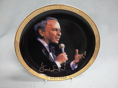 "#zz.  Ceramic Collector Plate - Frank Sinatra Singing ""my Way"""