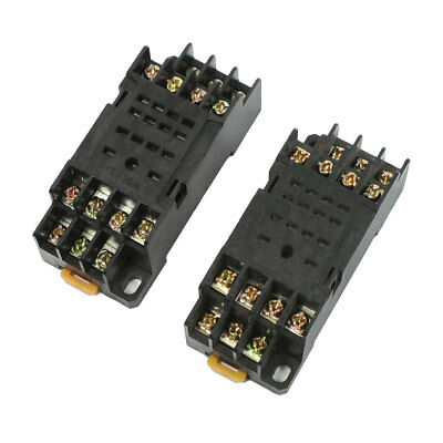 Spare Parts 2 Pcs PYF14A 14 Pins 35mm DIN Rail Relay Socket Base for H3Y-4