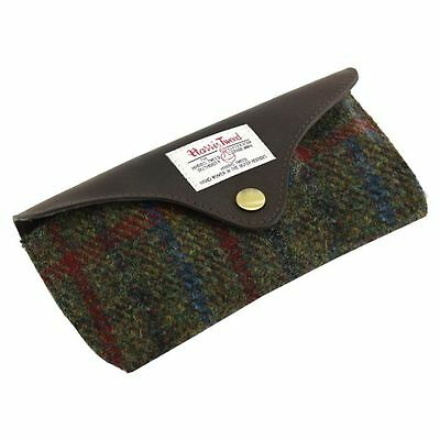 Harris Tweed Glasses Case with Leather Trim NEW  25122