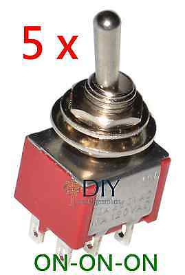 5 x DPDT ON-ON-ON toggle switch - switch a levetta pedal clone DIY