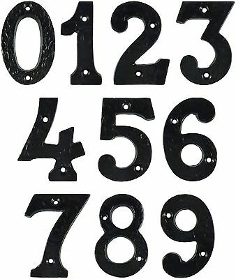Door & House Numbers Black Antique Numerals Reproduction Cast Iron - UK Quality
