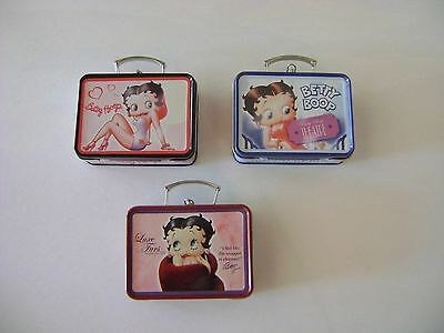 Betty Boop Collectible Mini Tin Boxes, 2.5 x 3.25 x 1 inches (3-piece set)