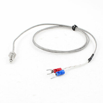 K Type 0 to 500 Celsius Range 6mm Screw Thread Thermocouple 1 Meter