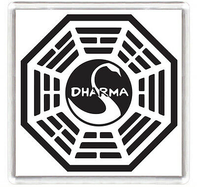 Lost Series Dharma Logo Fridge Magnet Iman Nevera