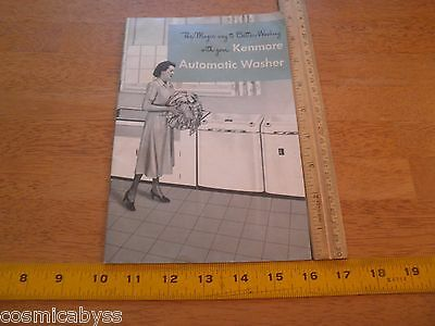 1950 Kenmore Automatic clothes Washer SEARS guide book house wife classic