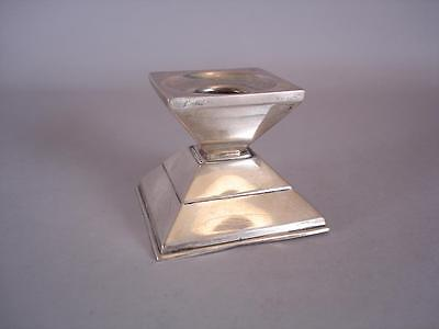 Square Candle Holder - German .835 Silver - Very Unique