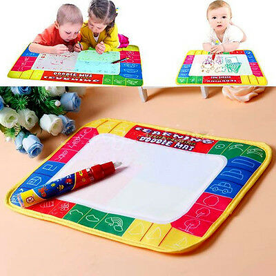Water Drawing Painting Writing Board Mat Magic Pen Toys Kids Children Baby Gift