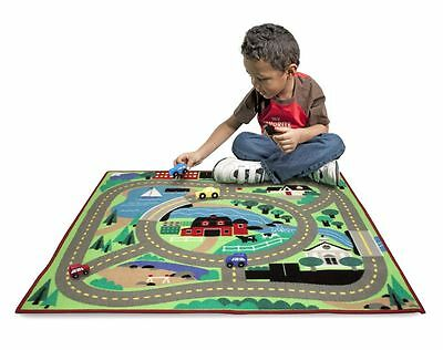 Melissa And Doug Round The Town Road Rug Large Floor City Car Play Mat