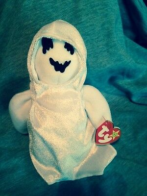 "TY Beanie Babies Baby Halloween ""SHEETS"" the Ghost Mint w/Tags"