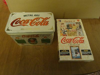 COCA COLA Trading Card 1995 Sealed Box Series 4 & Metal Art Collector Cards
