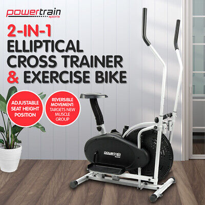 Powertrain Elliptical Cross Trainer Exercise Bike Machine Home Gym Bicycle