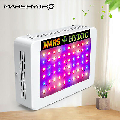 Mars 300W LED Grow Light Panel Lampe Voll Spektrum Pflanze Blumen Gemüse EU Plug