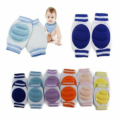 BABY KNEE PADS Infant Toddler Crawling Pad Safety Pink Blue Yellow Orange Purple