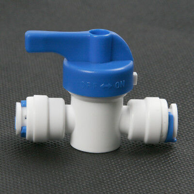1/4'' Inline Ball Valve Quick Connect Shut Off for RO Water Reverse Osmosis